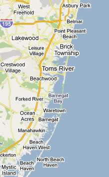 dumpster service map, Toms River, New Jersey